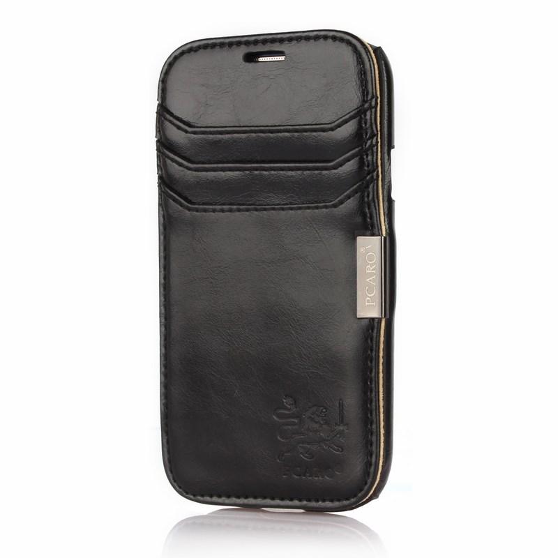PCARO® Samsung Galaxy S3 Echlederhülle Rome schwarz front