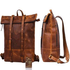 Vintage Pcaro Leder Rucksack Oxford P23